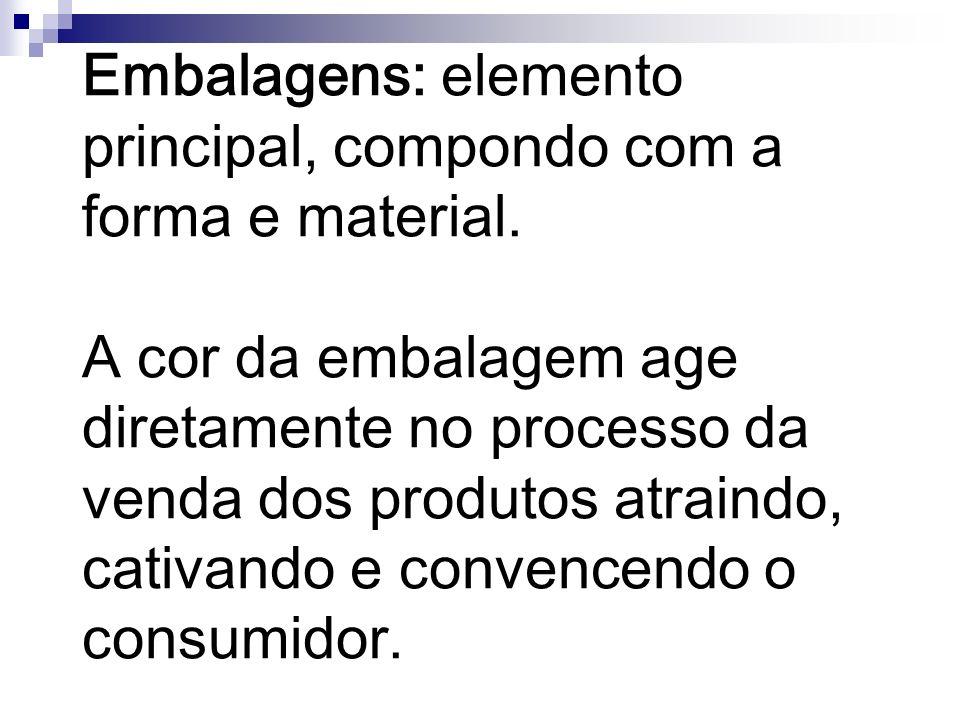 Embalagens: elemento principal, compondo com a forma e material