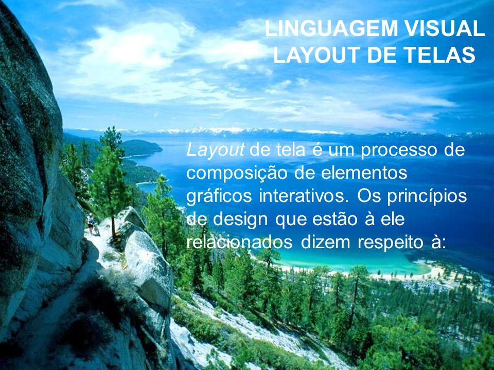 LINGUAGEM VISUAL LAYOUT DE TELAS