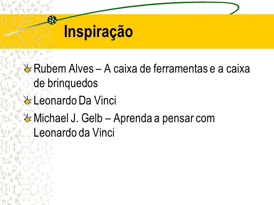 Inspiração Rubem Alves – A caixa de ferramentas e a caixa de brinquedos. Leonardo Da Vinci.