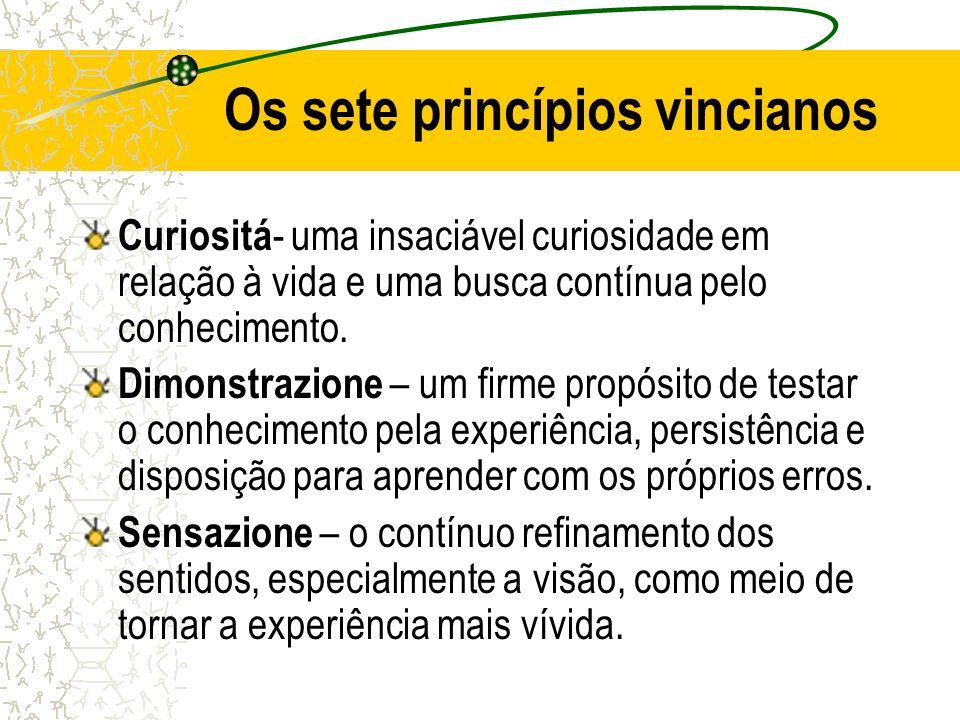 Os sete princípios vincianos
