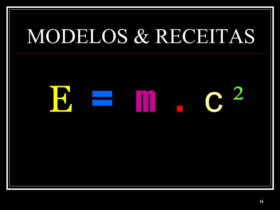 MODELOS & RECEITAS E = m . c ²