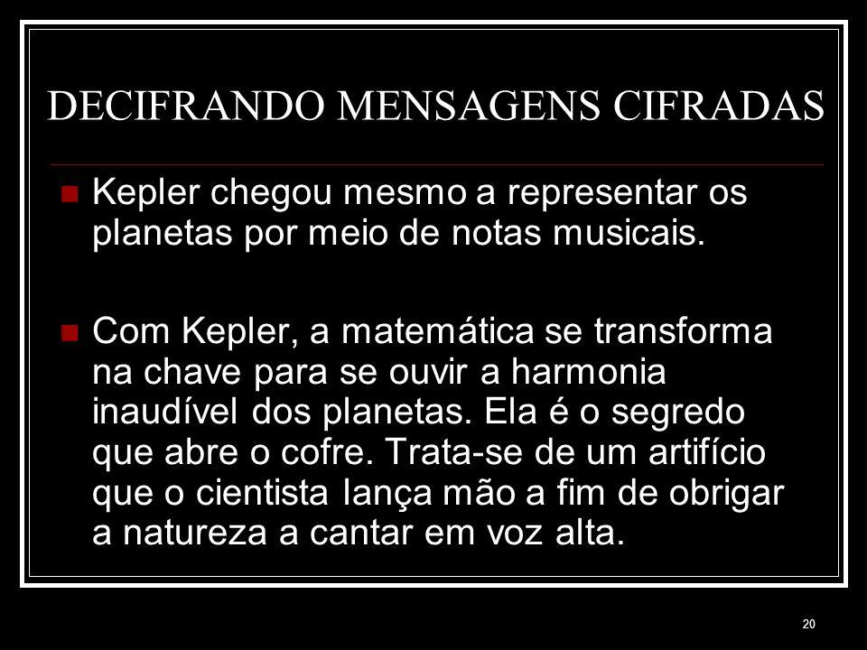 DECIFRANDO MENSAGENS CIFRADAS