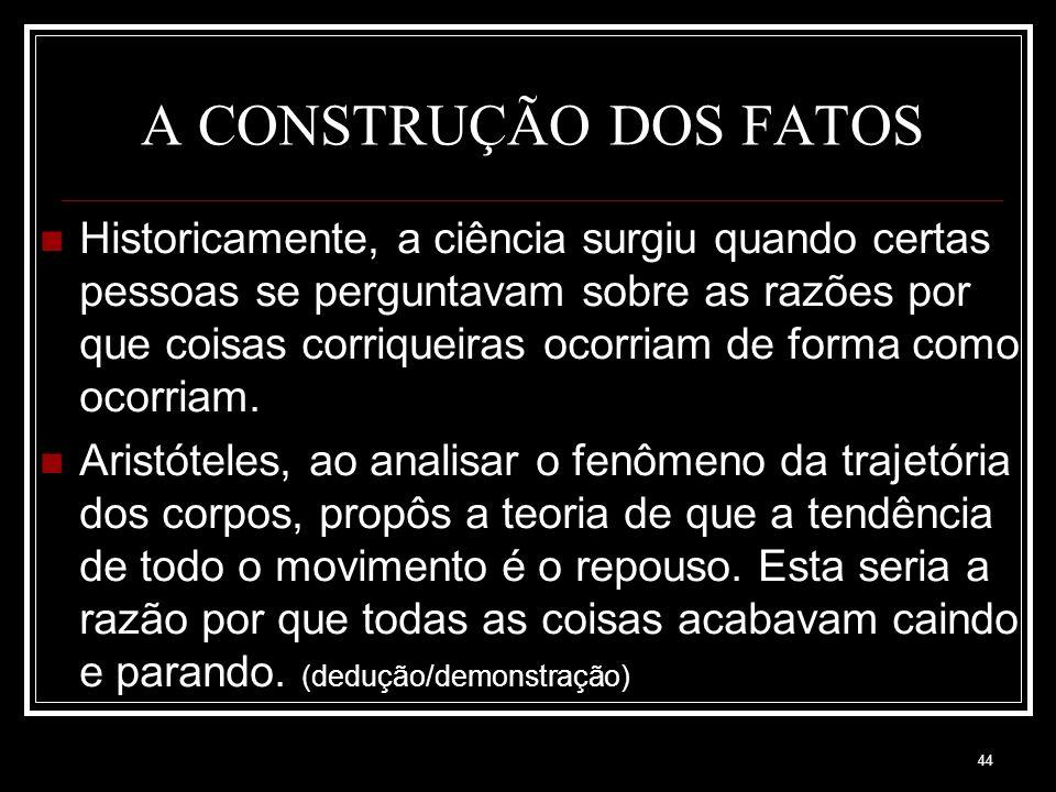 A CONSTRUÇÃO DOS FATOS