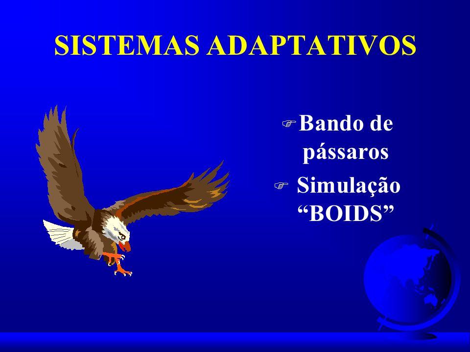 SISTEMAS ADAPTATIVOS Bando de pássaros Simulação BOIDS