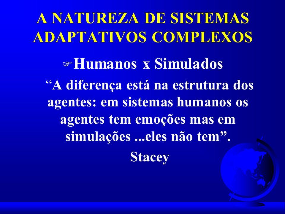 A NATUREZA DE SISTEMAS ADAPTATIVOS COMPLEXOS