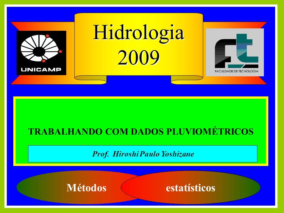 TRABALHANDO COM DADOS PLUVIOMÉTRICOS