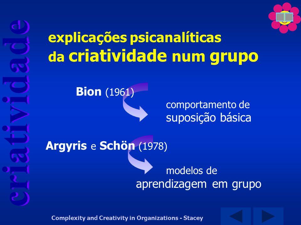 explicações psicanalíticas da criatividade num grupo