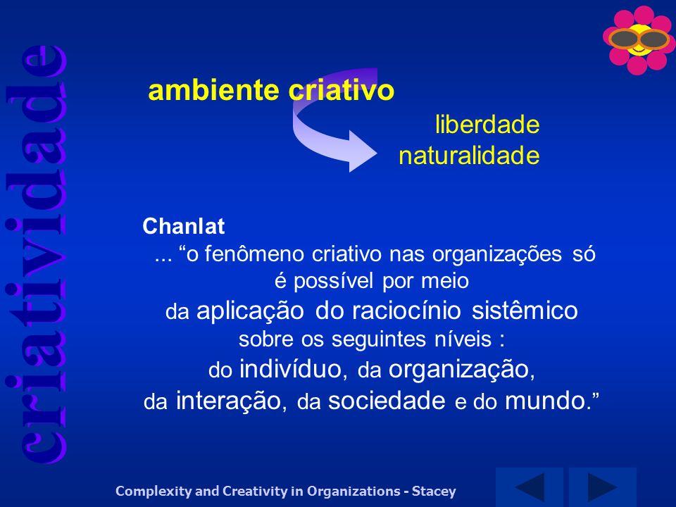 ambiente criativo liberdade naturalidade Chanlat