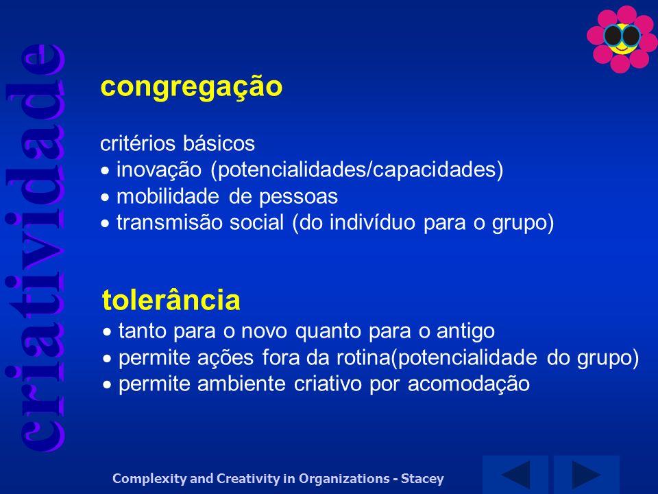 congregação tolerância critérios básicos
