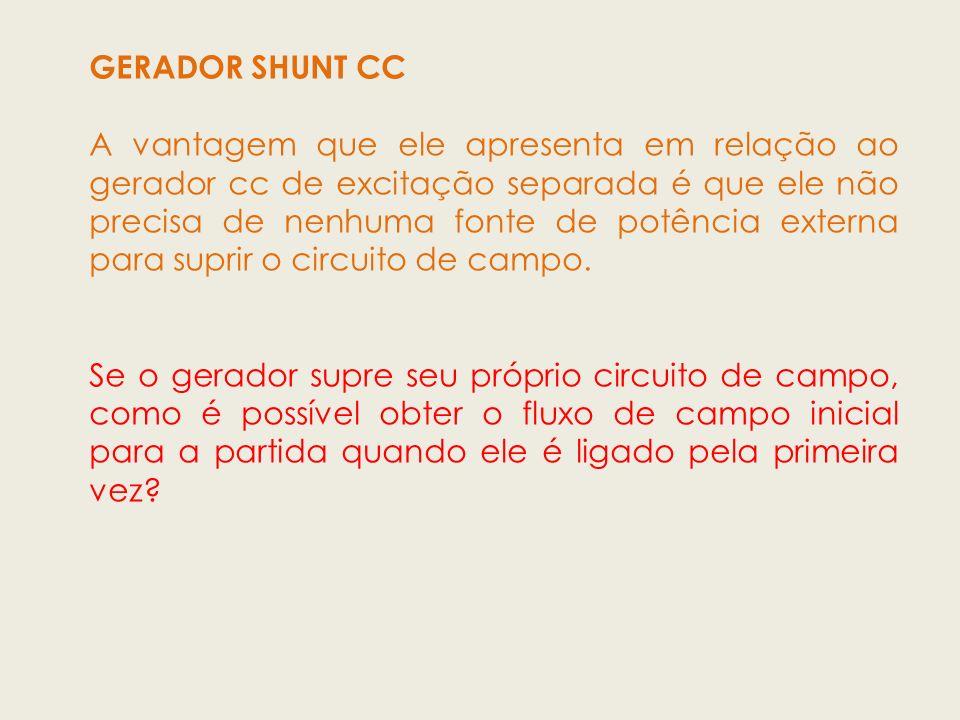 GERADOR SHUNT CC