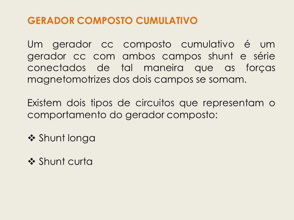 GERADOR COMPOSTO CUMULATIVO