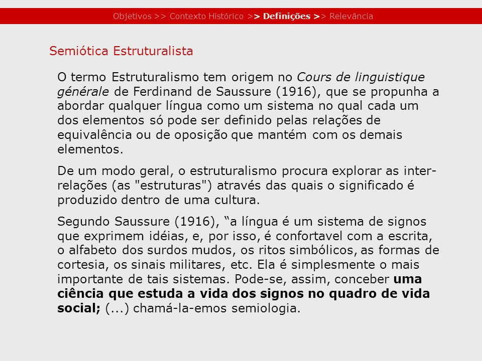 Semiótica Estruturalista