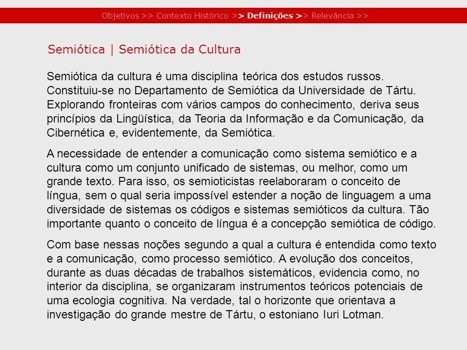 Semiótica | Semiótica da Cultura