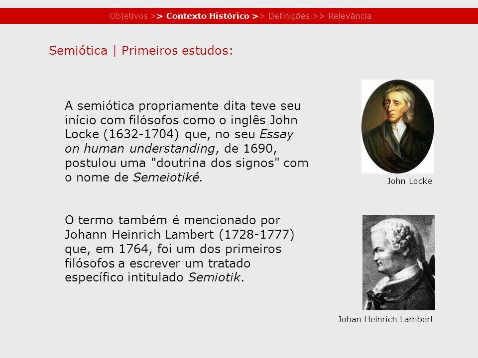 Semiótica | Primeiros estudos: