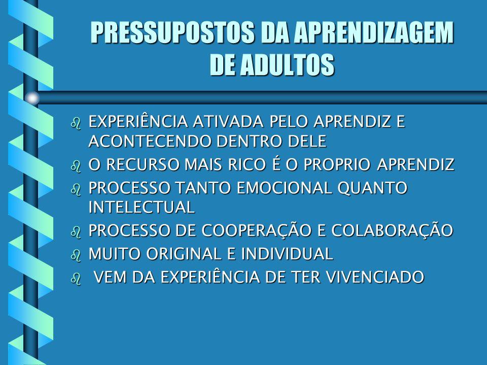 PRESSUPOSTOS DA APRENDIZAGEM DE ADULTOS