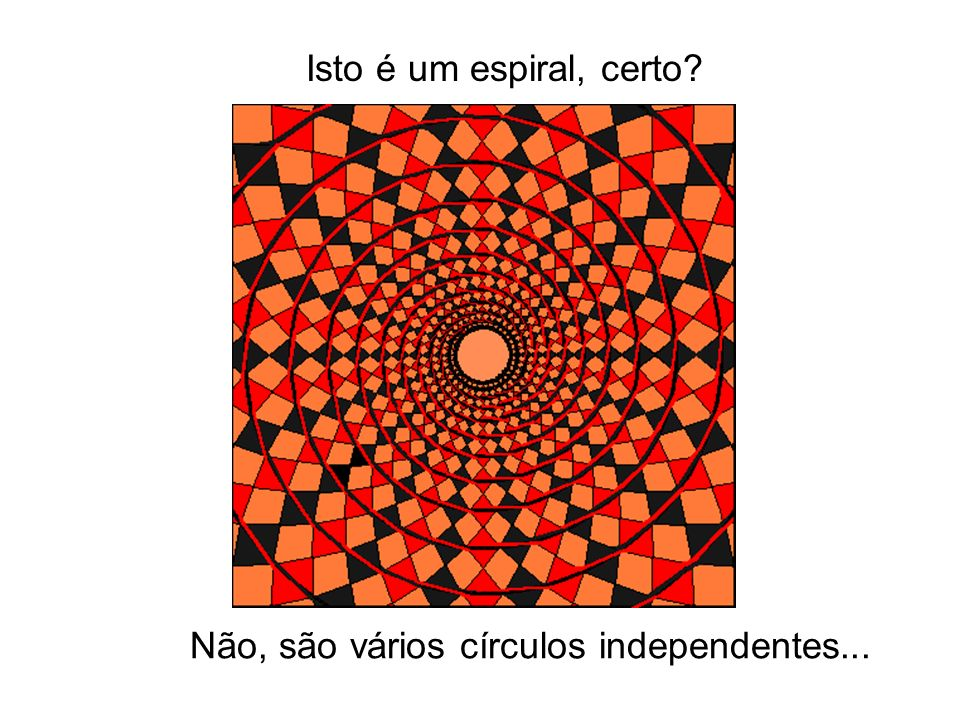 Isto é um espiral, certo Não, são vários círculos independentes...