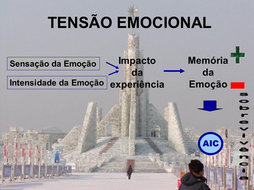 TENSÃO EMOCIONAL + - Impacto Memória da da experiência Emoção