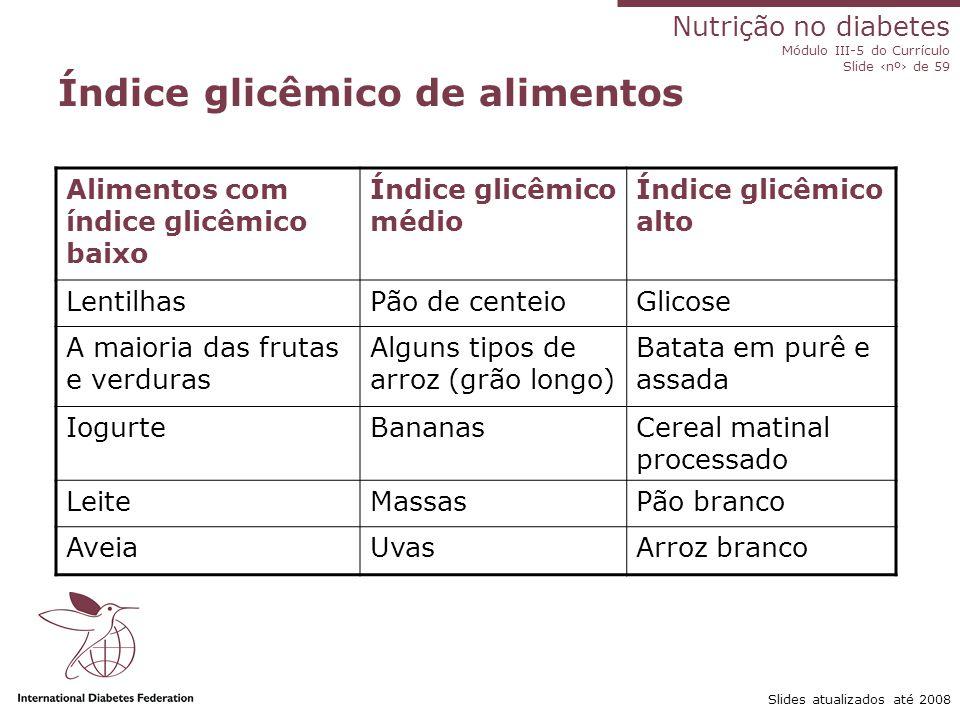 Índice glicêmico de alimentos