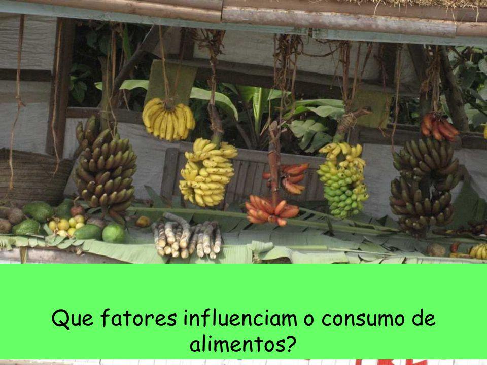 Que fatores influenciam o consumo de alimentos