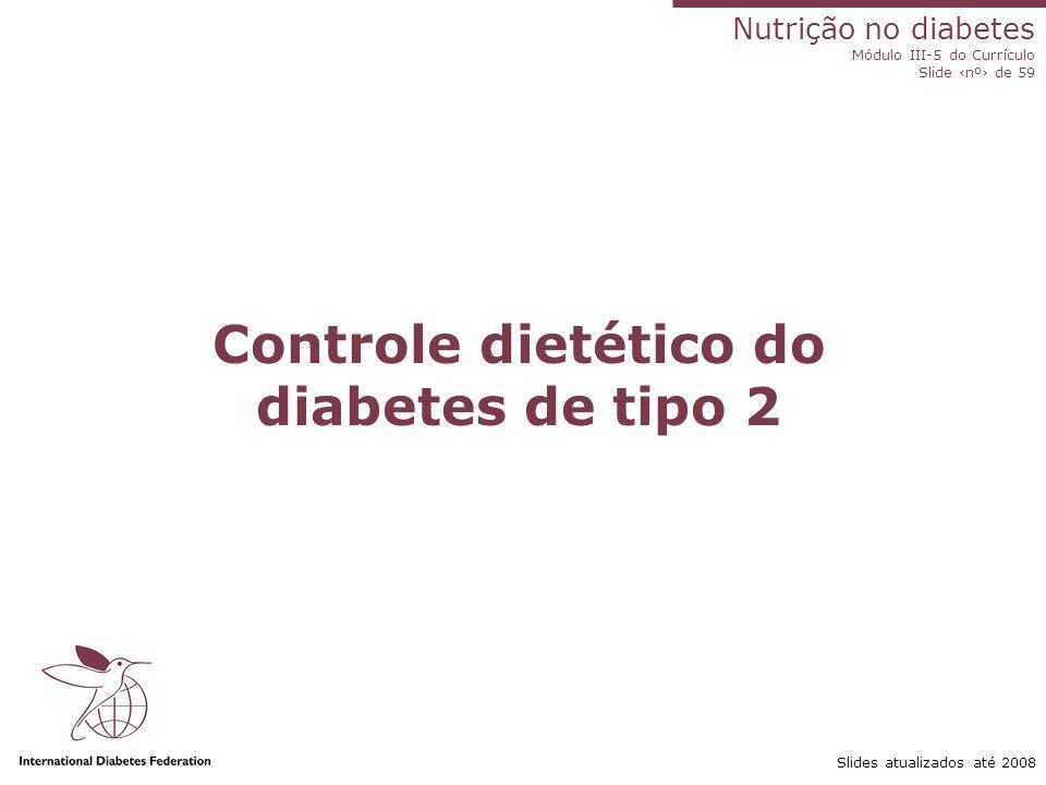 Controle dietético do diabetes de tipo 2