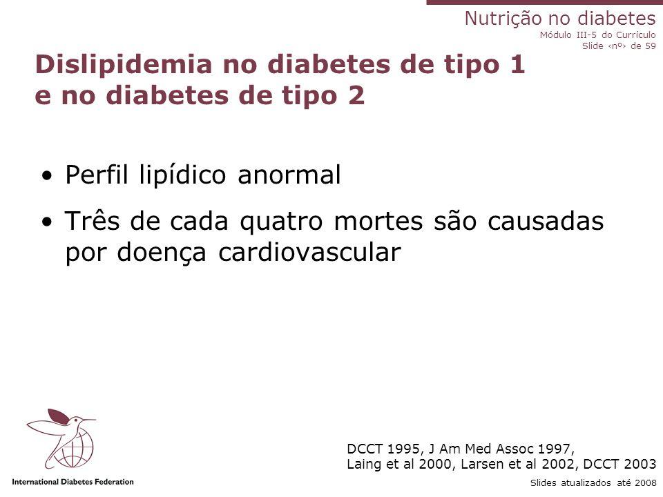 Dislipidemia no diabetes de tipo 1 e no diabetes de tipo 2