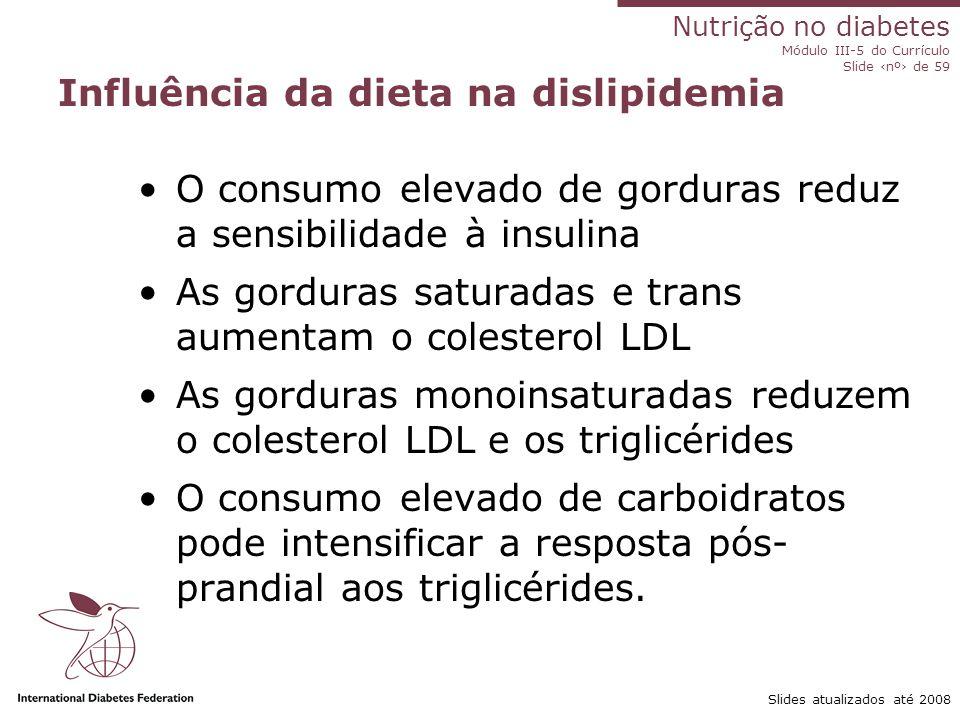 Influência da dieta na dislipidemia