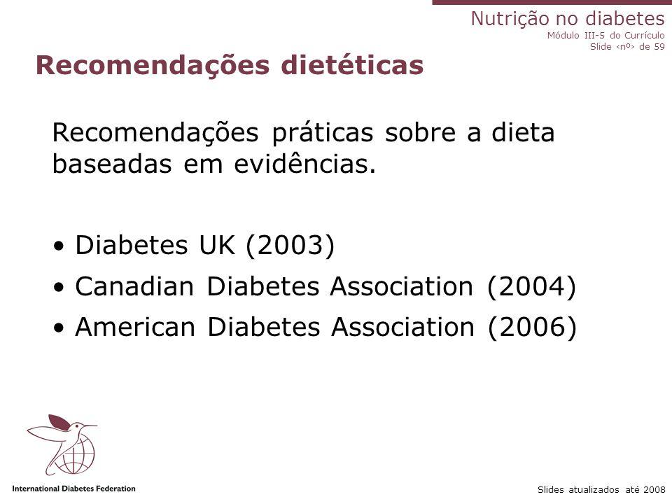 Recomendações dietéticas