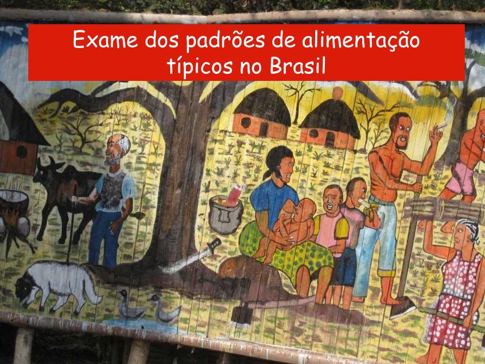 Exame dos padrões de alimentação típicos no Brasil