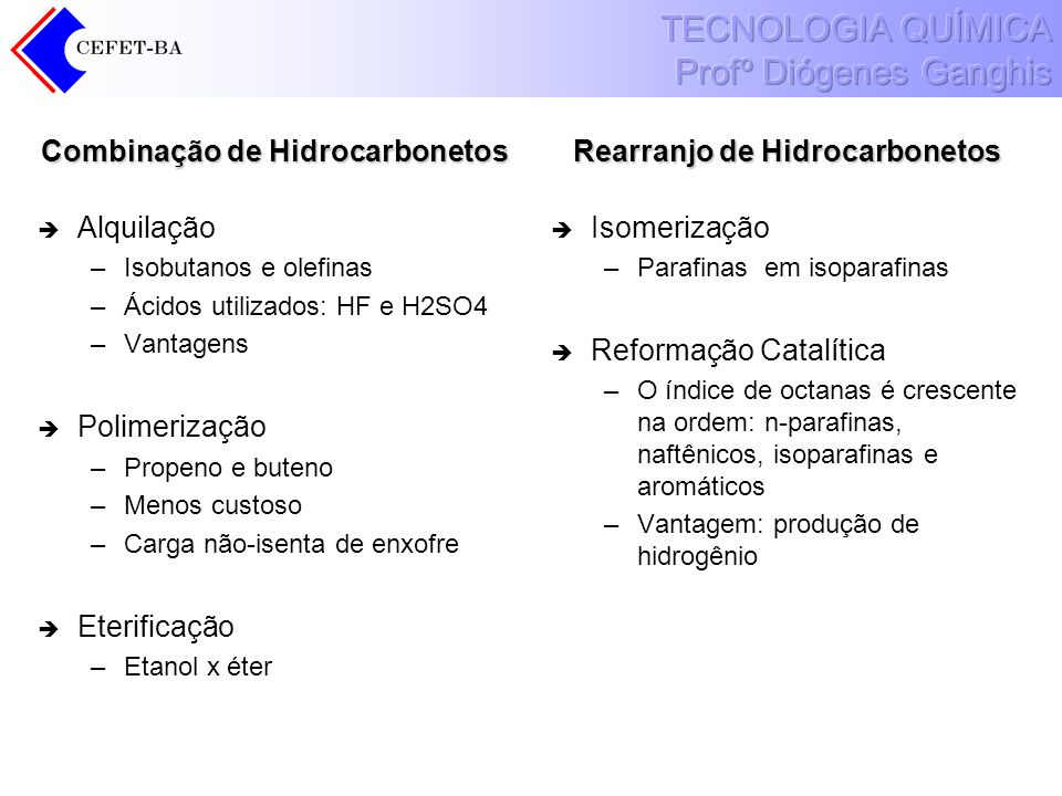 Combinação de Hidrocarbonetos