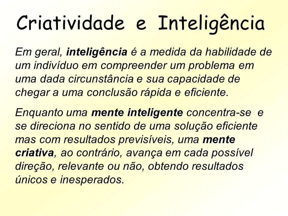 Criatividade e Inteligência