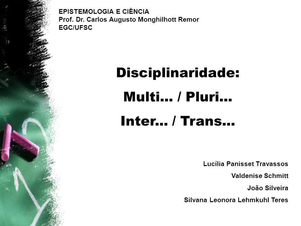 Disciplinaridade: Multi... / Pluri... Inter... / Trans...