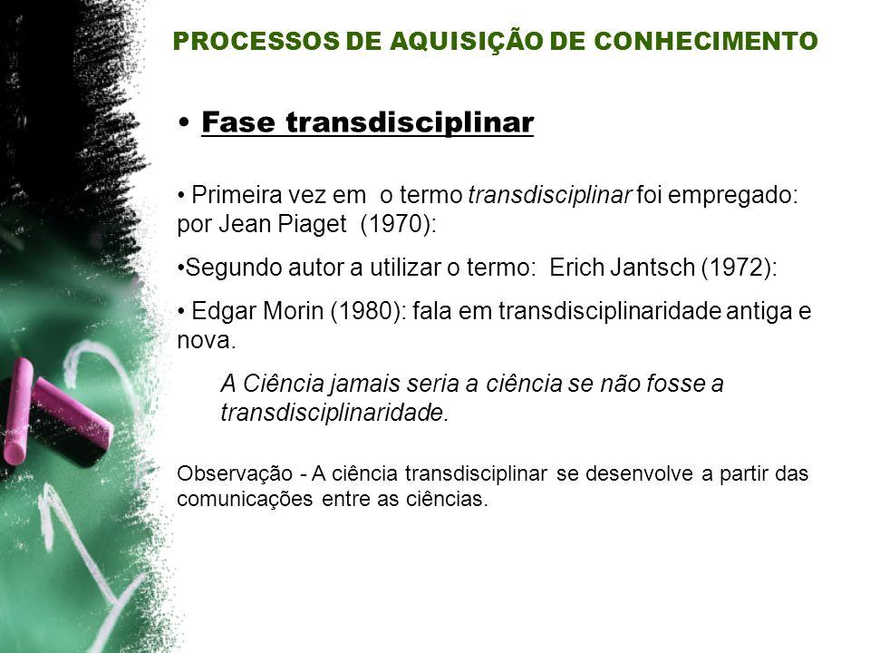 Fase transdisciplinar