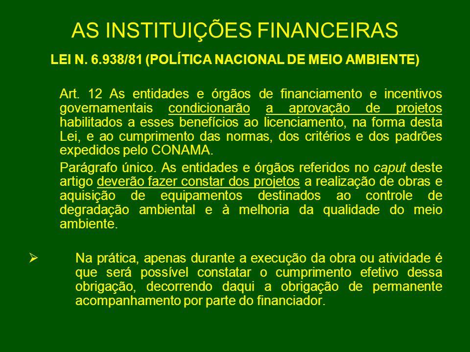 AS INSTITUIÇÕES FINANCEIRAS