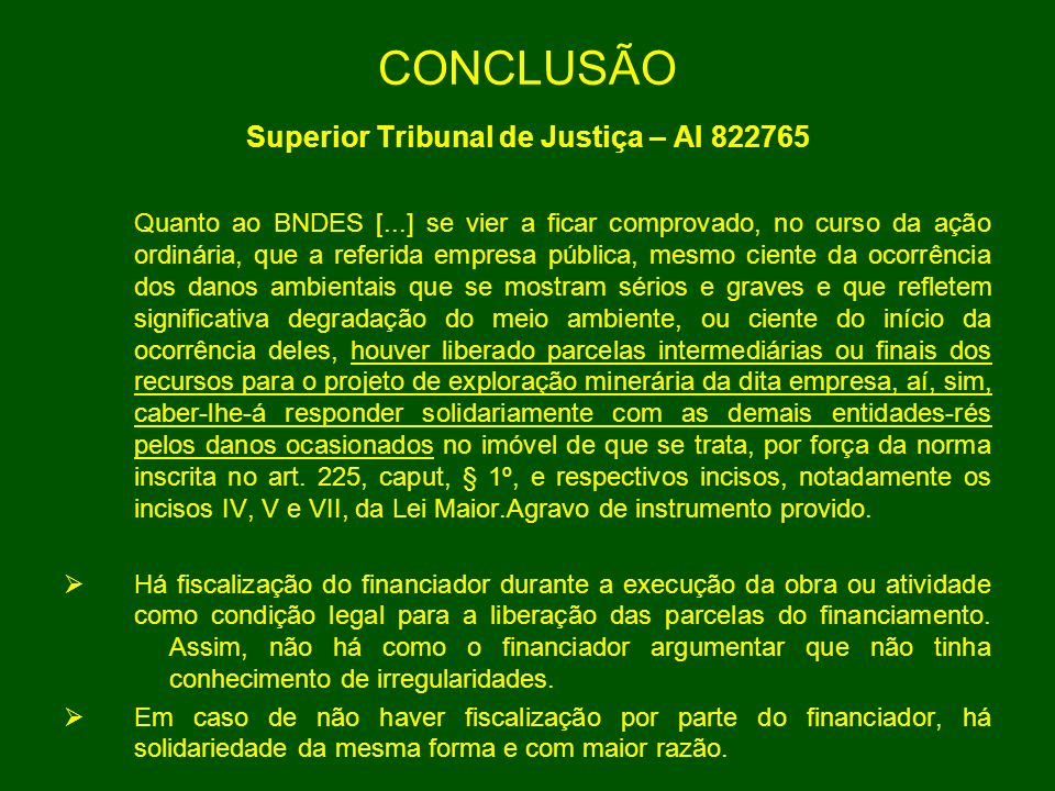 Superior Tribunal de Justiça – AI 822765