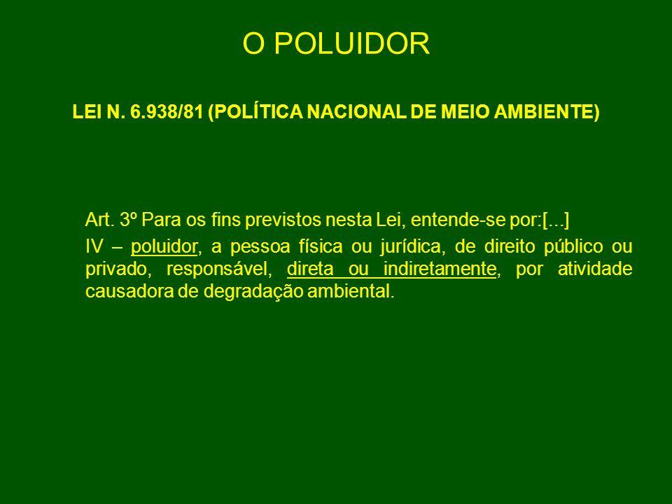 LEI N. 6.938/81 (POLÍTICA NACIONAL DE MEIO AMBIENTE)