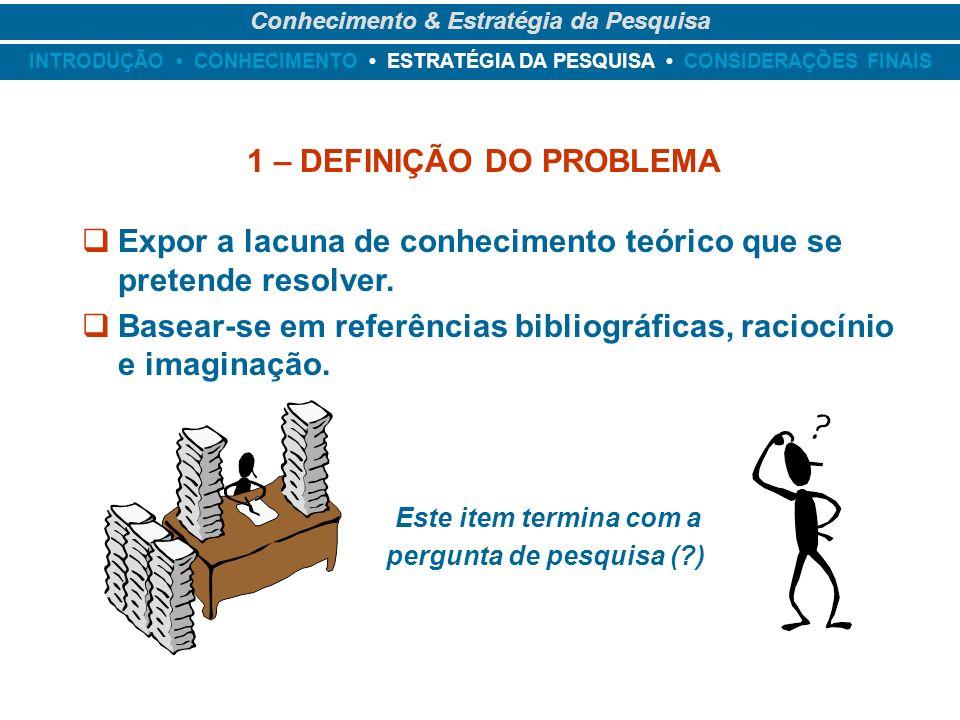 1 – DEFINIÇÃO DO PROBLEMA