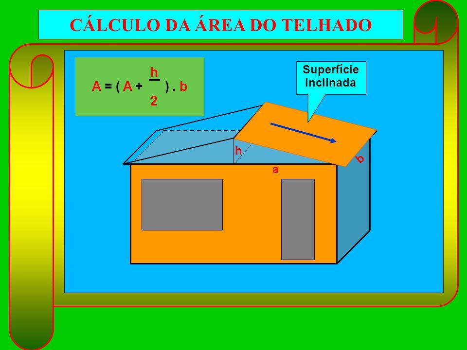 CÁLCULO DA ÁREA DO TELHADO