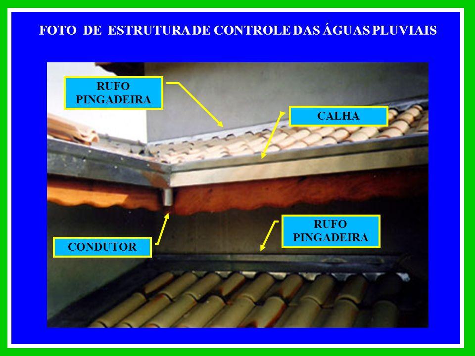 FOTO DE ESTRUTURA DE CONTROLE DAS ÁGUAS PLUVIAIS