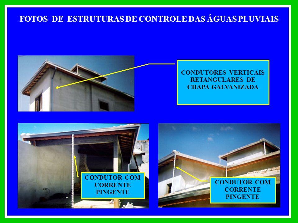 FOTOS DE ESTRUTURAS DE CONTROLE DAS ÁGUAS PLUVIAIS