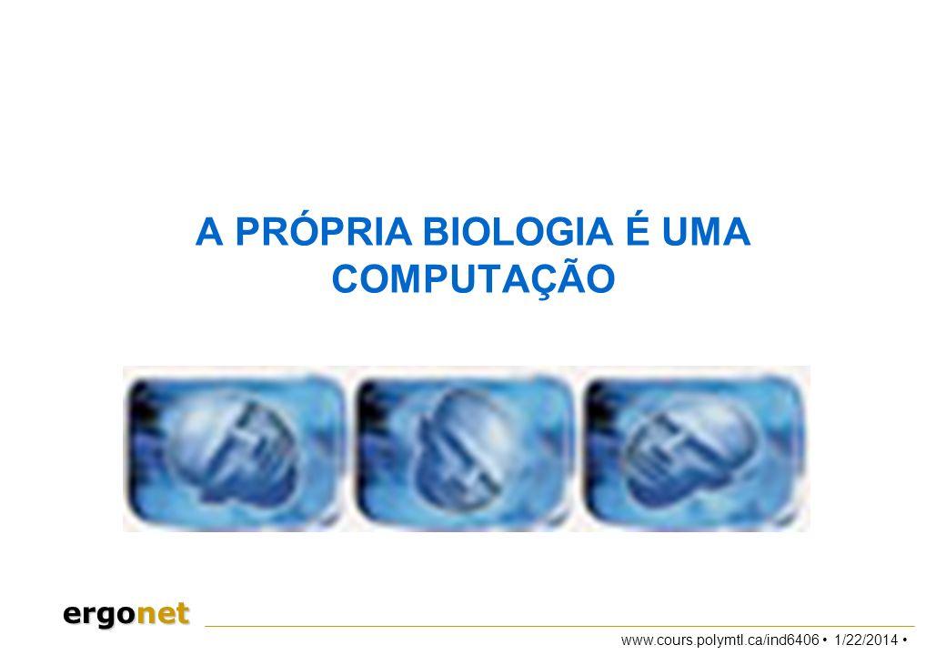 A PRÓPRIA BIOLOGIA É UMA COMPUTAÇÃO