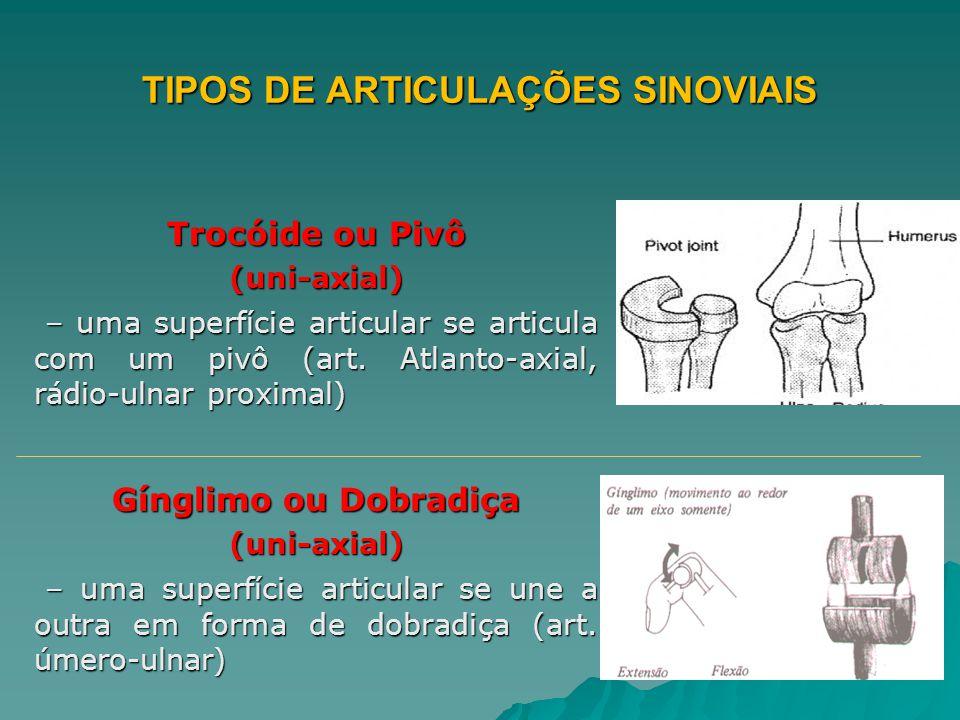 TIPOS DE ARTICULAÇÕES SINOVIAIS