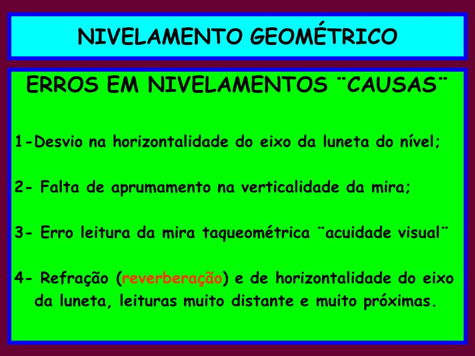 NIVELAMENTO GEOMÉTRICO