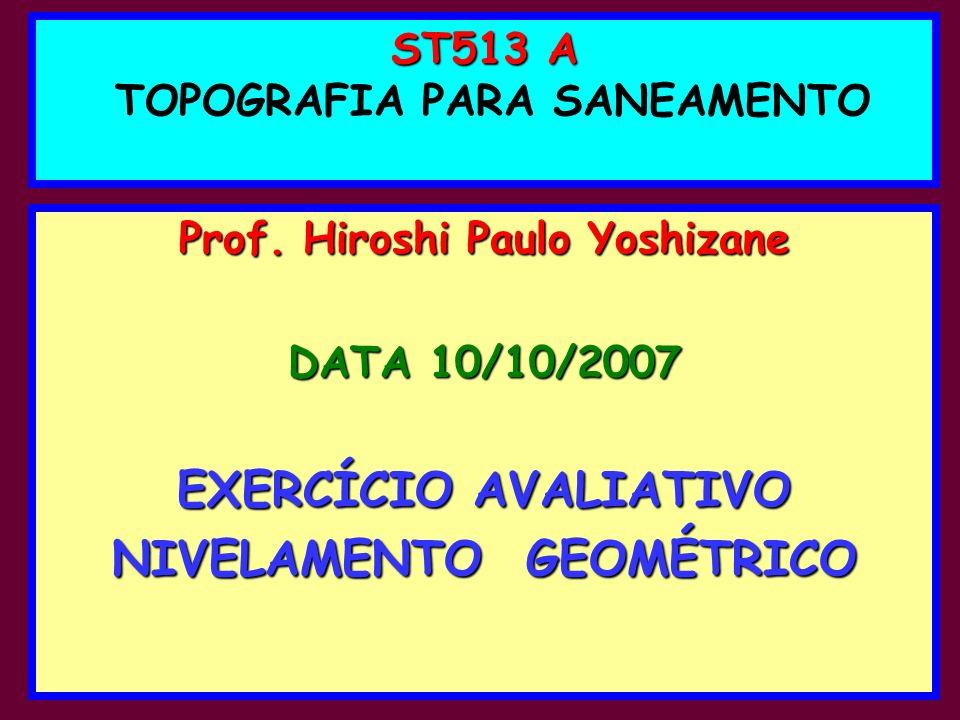 ST513 A TOPOGRAFIA PARA SANEAMENTO