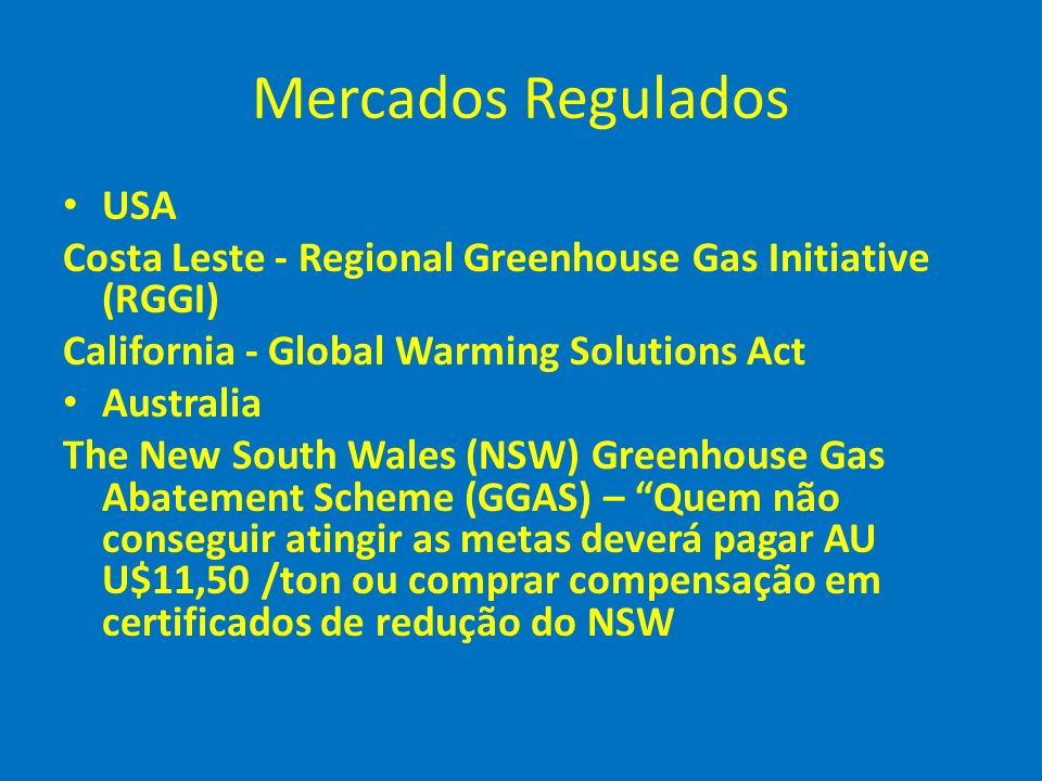 Mercados Regulados USA