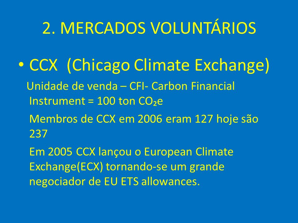CCX (Chicago Climate Exchange)