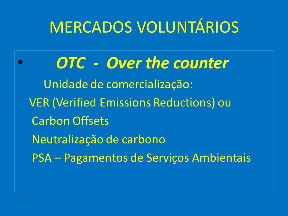 MERCADOS VOLUNTÁRIOS OTC - Over the counter