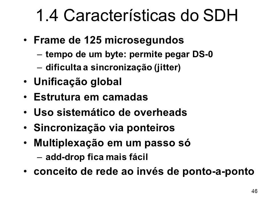 Tecnologia SDH (Synchronous Digital Hierarchy)