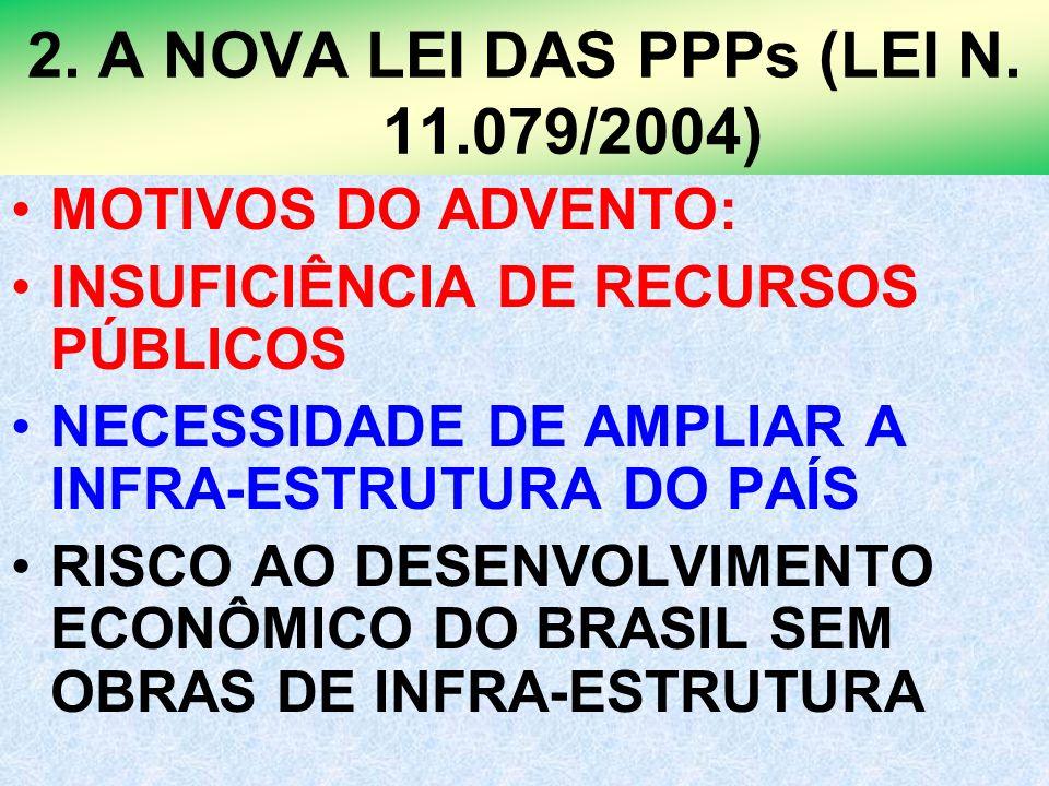 2. A NOVA LEI DAS PPPs (LEI N. 11.079/2004)
