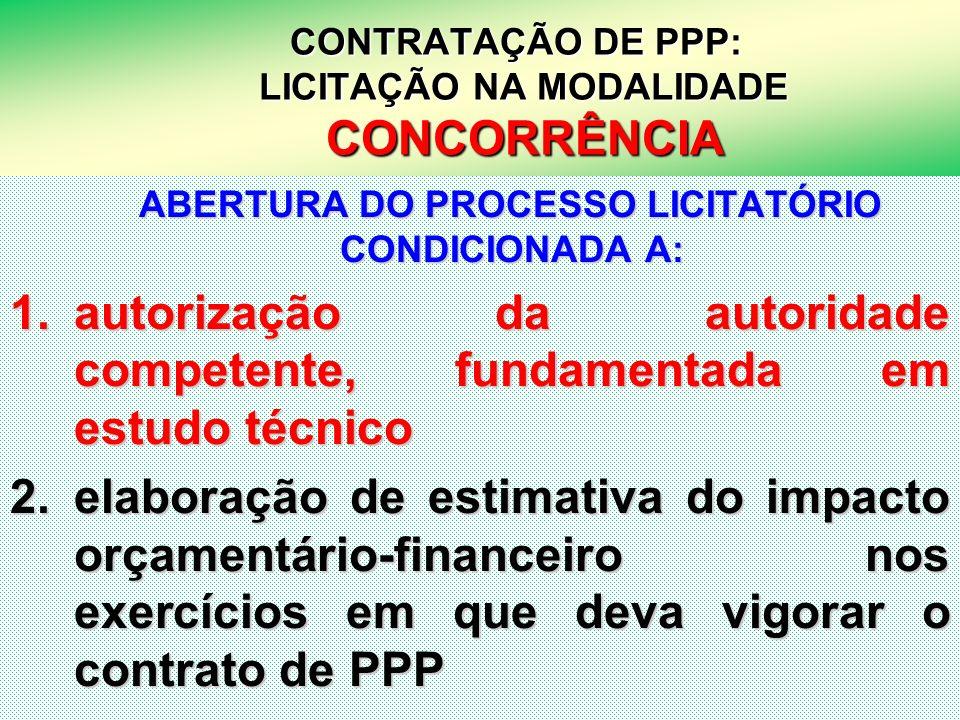 CONTRATAÇÃO DE PPP: LICITAÇÃO NA MODALIDADE CONCORRÊNCIA