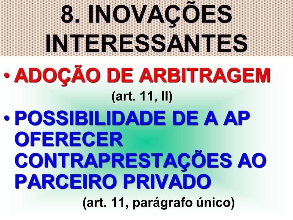 8. INOVAÇÕES INTERESSANTES